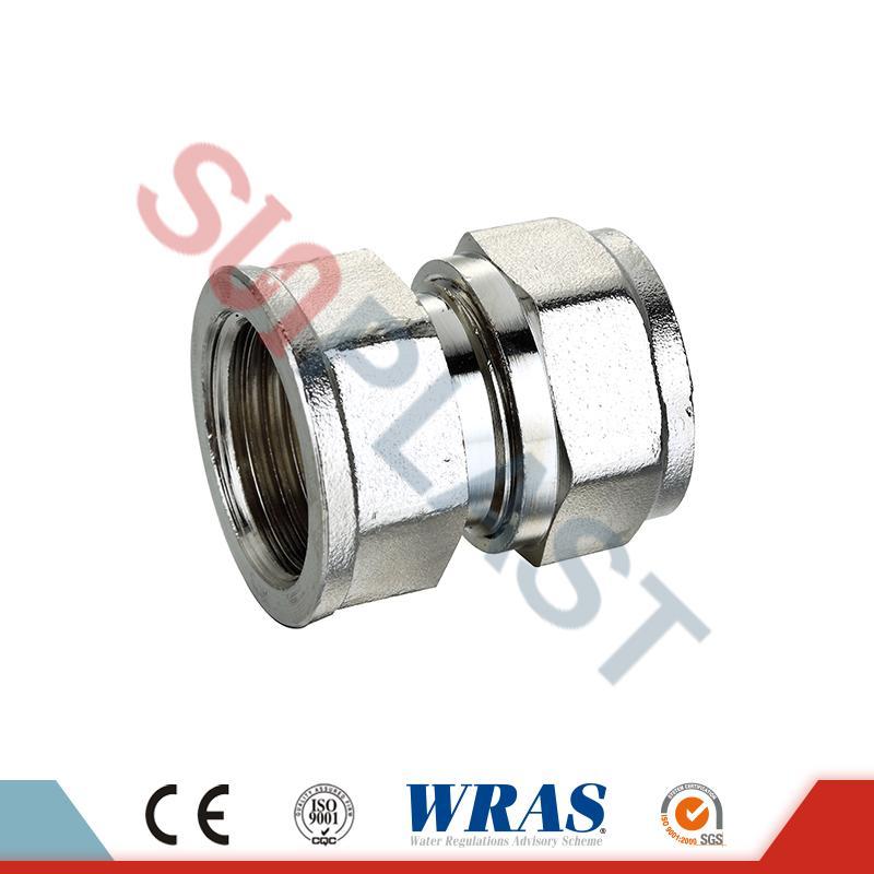 Brass Compression Female Coupling For PEX-AL-PEX Multilayer Pipe